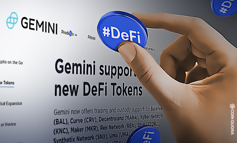 Gemini-Expands-Trading-and-Custody-Services-on-DeFi-Tokens