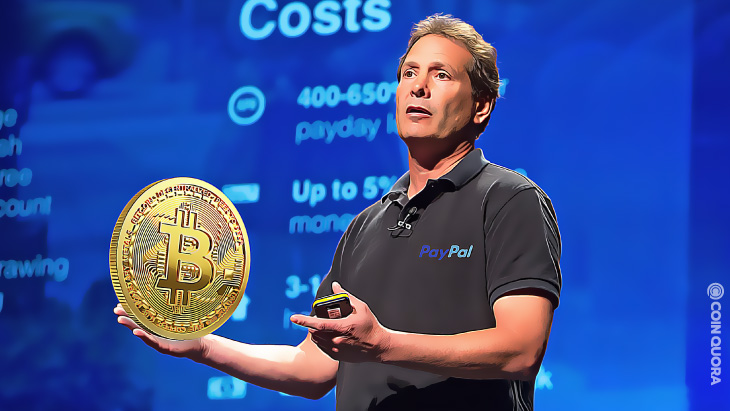 PayPal CEO Tests Out New Crypto Checkout Feature