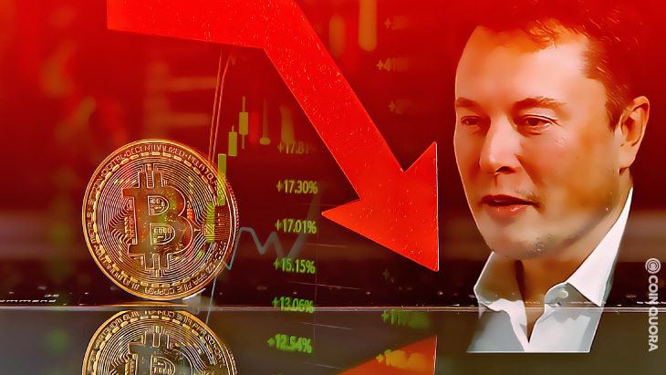 BTC Below $34k Price Influence by Elon and China, Analyst Says