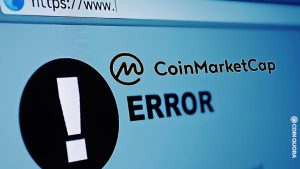 Coinmarketcap Says They Are Experiencing Technical Issues