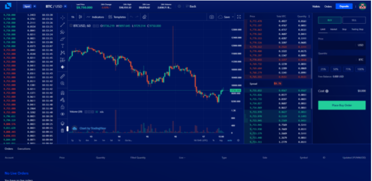 Liquid Real-Time Charting and Trading View