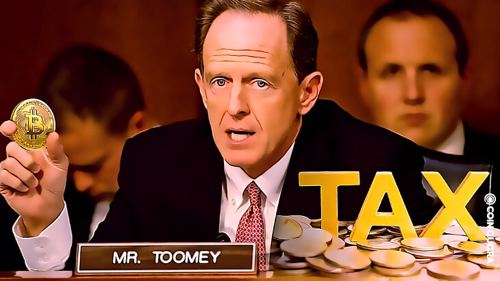 Senator Pat Toomey Proposed Crypto Tax Clauses Unworkable