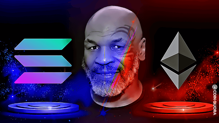 Boxing Legend Mike Tyson Asks — Solana or Ethereum