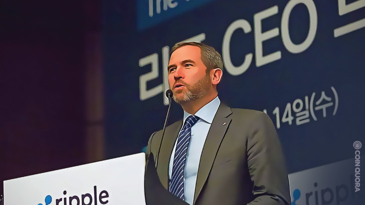 Ripple CEO Says the SEC Helped Ethereum to Surpass XRP as No.2 Crypto